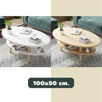 โต๊ะวางของ 2 ชั้น ขนาด 100 x 50 ซม. โต๊ะกลาง โต๊ะห้องนั่งเล่น มินิมอล เฟอร์นิเจอร์แต่งบ้าน