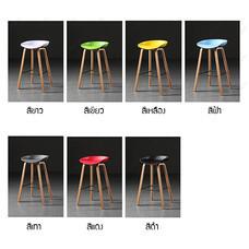 เก้าอี้ เก้าอี้บาร์ เก้าอี้ทรงสูง เก้าอี้เคาน์เตอร์บาร์ เก้าอี้ขาไม้แท้ เฟอร์นิเจอร์แต่งบ้าน รุ่น F1C023 - F1C029