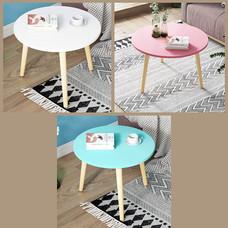 โต๊ะ โต๊ะกลม โต๊ะกลาง โต๊ะห้องนั่งเล่น โต๊ะอเนกประสงค์ เฟอร์นิเจอร์แต่งบ้าน ขนาด 60 x 42 cm.