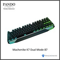 Machenike K7 Dual Mode 87 Keys Anti-Ghosting Mechanical Gaming Keyboard - Blue Switch