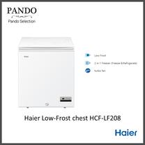 ตู้แช่ฝากระจก 2 ระบบ ขนาด 5 คิว รุ่น HCF-LF208 สีขาว