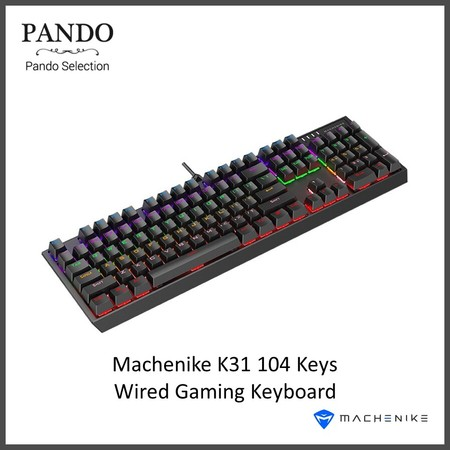Machenike K31 104 Keys Wired Gaming Keyboard