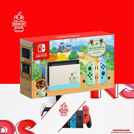 เครื่องเกมส์ Nintendo Switch Animal Crossing Edition กล่องแดง รุ่นใหม่ แบตอึด V.2