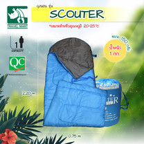 Travel Mart ถุงนอนใยนุ่ม 150 กรัม รุ่น SCOUTER สีฟ้า