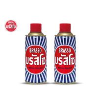 Brasso บรัสโซ น้ำยาขัดโลหะ 400มล. แพ็คคู่