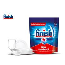 Finish ฟินิช ผลิตภัณฑ์ล้างจานชนิดก้อน สำหรับเครื่องล้างจาน 24 ก้อน 390 กรัม