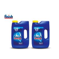 Finish ฟินิช ผลิตภัณฑ์ล้างจานชนิดผง สำหรับเครื่องล้างจาน ขนาด 1กก. แพ็คคู่