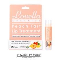 Lovella Organics Peach Tart Lip Treatment ลิปบาล์ม ออร์แกนิก กลิ่นพีชทาร์ต