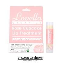 Lovella Rose Cupcake Lip Treatment ลิปบาล์มออร์แกนิก เลิฟเวลล่า กลิ่นโรส คัพเค้ก