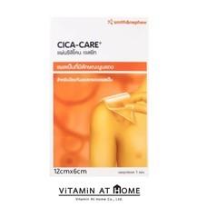 CICA CARE ขนาด 12 cm x 6 cm แผ่นซิลิโคนเจล cicacare ลดรอยแผลเป็นนูน แผลเป็นคีลอยด์ แผลเป็นหลังการผ่าตัด