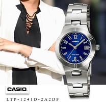 Velashop Casio นาฬิกาข้อมือผู้หญิง สายสแตนเลส รุ่น LTP-1241D, LTP-1241D-2A2DF, LTP-1241D-2A2