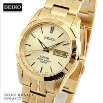Velashop นาฬิกาข้อมือผู้ชาย Seiko Herenhorloge สายสแตนเลสแท้ รุ่น SGGA62P1 SGGA62 (สีทอง)