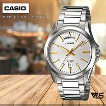 Velashop นาฬิกาข้อมือผู้ชาย Casio Standard สายสแตนเลส รุ่น MTP-1370D-7A2VDF, MTP-1370D-7A2, MTP-1370D