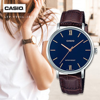 Velashop นาฬิกาข้อมือผู้หญิง Casio Standard สายหนัง รุ่น LTP-VT01L, LTP-VT01L-2BUDF, LTP-VT01L-2B