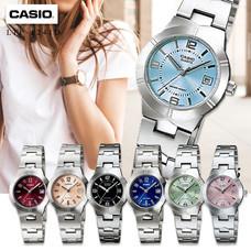Velashop Casio นาฬิกาข้อมือผู้หญิง สายสแตนเลส รุ่น LTP-1241D, LTP-1241D-1A, LTP-1241D-2A, LTP-1241D-2A2, LTP-1241D-3A, LTP-1241D-4A, LTP-1241D-4A2, LTP-1241D-4A3,LTP-1241D-7A2