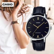 Velashop นาฬิกาข้อมือผู้หญิง Casio Standard สายหนัง รุ่น LTP-VT01L, LTP-VT01L-1BUDF, LTP-VT01L-1B