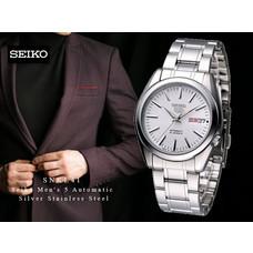 Velashop นาฬิกาข้อมือ Seiko 5 Sport Automatic นาฬิกาข้อมือผู้ชาย สีเงิน สายสแตนเลส รุ่น SNKL41K1, SNKL41K, SNKL41