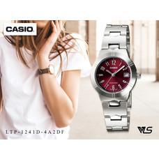 Velashop Casio นาฬิกาข้อมือผู้หญิง สายสแตนเลส รุ่น LTP-1241D, LTP-1241D-4A2DF, LTP-1241D-4A2