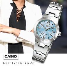 Velashop Casio นาฬิกาข้อมือผู้หญิง สายสแตนเลส รุ่น LTP-1241D, LTP-1241D-2ADF, LTP-1241D-2A