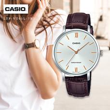 Velashop นาฬิกาข้อมือผู้หญิง Casio Standard สายหนัง รุ่น LTP-VT01L-7B2UDF, LTP-VT01L-7B2, LTP-VT01L