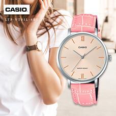 Velashop นาฬิกาข้อมือผู้หญิง Casio Standard สายหนัง รุ่น LTP-VT01L, LTP-VT01L-4BUDF, LTP-VT01L-4B