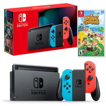 Nintendo Switch New Console (2019) ฟรีเกม Animal Crossing: New Horizons US Eng