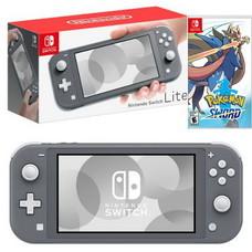 Nintendo Switch Lite ( Black ) ฟรีแผ่นเกม Pokemon sword