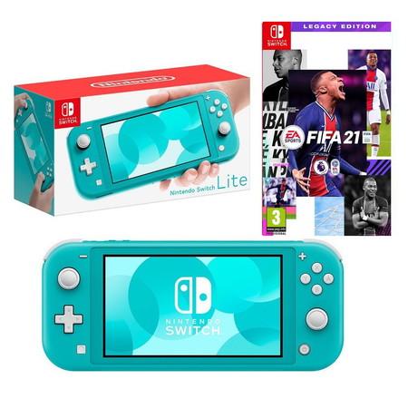 Nintendo Switch Lite (TURQUOISE) ฟรีแผ่นเกม Fifa 21