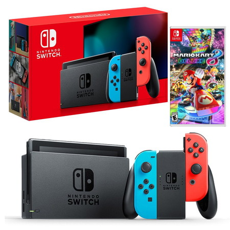 Nintendo Switch New Console (2019) ฟรีเกม Mario kart 8 deluxe