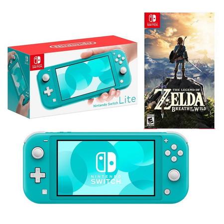 Nintendo Switch Lite (TURQUOISE) ฟรีแผ่นเกม zelda breath of the wild