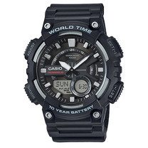 นาฬิกา Casio AEQ-110W-1A ของแท้ นาฬิกา สำหรับผู้ชาย สายเรซิ่น แบตเตอรี่ 10 ปี ของแท้ รับประกัน 1 ปี