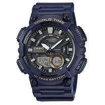 นาฬิกา Casio AEQ-110W-2A ของแท้ นาฬิกา สำหรับผู้ชาย สายเรซิ่น แบตเตอรี่ 10 ปี ของแท้ รับประกัน 1 ปี