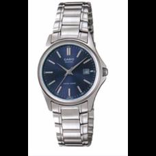 Casio นาฬิกาข้อมือผู้หญิง สายสแตนเลส รุ่น LTP-1183A-2A - Silver/Blue รับประกันศูนย์ 1 ปี ของแท้