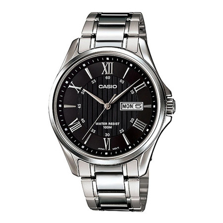 Casio MTP-1384D-1 นาฬิกาข้อมือสำหรับผู้ชายสาย Stainless ของแท้ ประกันศูนย์ฯ 1 ปี
