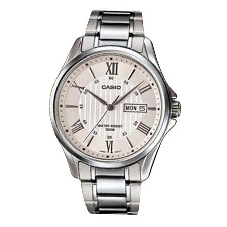 Casio MTP-1384D-7 นาฬิกาข้อมือสำหรับผู้ชายสาย Stainless ของแท้