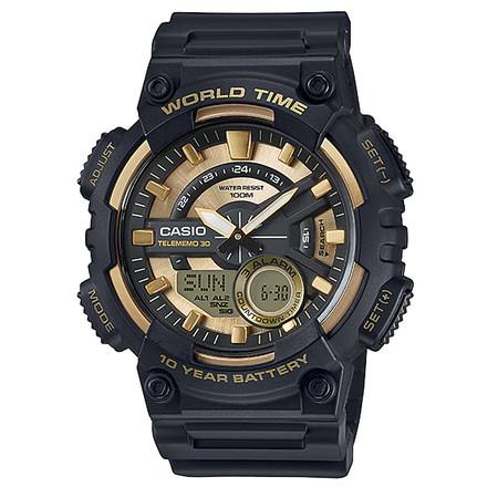 นาฬิกา Casio AEQ-110W-9A ของแท้ นาฬิกา สำหรับผู้ชาย สายเรซิ่น แบตเตอรี่ 10 ปี ของแท้ รับประกัน 1 ปี
