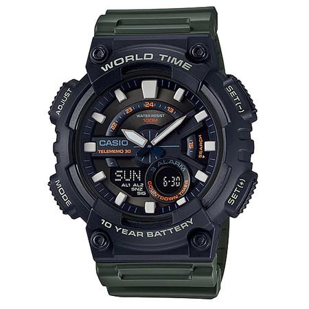 นาฬิกา Casio AEQ-110W-3A ของแท้ นาฬิกา สำหรับผู้ชาย สายเรซิ่น แบตเตอรี่ 10 ปี ของแท้ รับประกัน 1 ปี