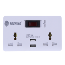 Toshino SMART ADAPTER รุ่น TW-2USB