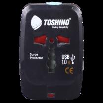 Toshino ปลั๊กแปลง Travel Adapter รุ่น DE-205    4 in 1