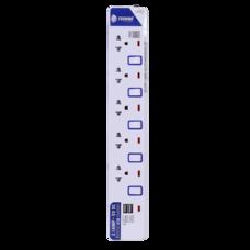 Toshino รางปลั๊กไฟ 5 ช่อง 5 สวิตซ์ 2 USB ยาว 3 ม. ET-915USB
