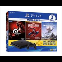 เครื่อง PS4 MEGA PACK HDD1TB INCLUDES GRAN TURISMO/SPIDER MAN/HORIZON ZERO DAWN