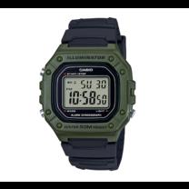 นาฬิกา Casio Digital สีเขียว รุ่น W-218H-3A