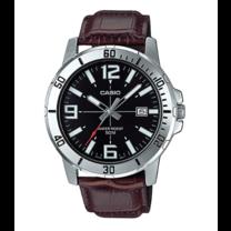 นาฬิกาผู้ชาย Casio Analog สายหนัง รุ่น MTP-VD01L-1B