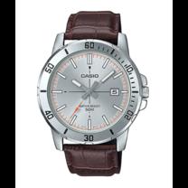 นาฬิกาผู้ชาย Casio Analog สายหนัง รุ่น MTP-VD01L-8E
