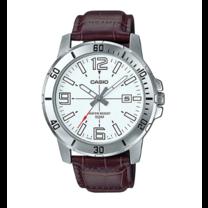 นาฬิกาผู้ชาย Casio Analog สายหนัง รุ่น MTP-VD01L-7B