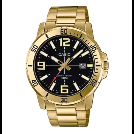 นาฬิกาผู้ชาย Casio Analog สแตนเลส รุ่น MTP-VD01G-1B