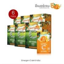 REAL ELIXIR Emergen C เรียล อิลิคเซอร์ วิตามินซี ชนิดชงดื่ม จำนวน 6 กล่อง (1 กล่อง บรรจุ 10 ซอง)