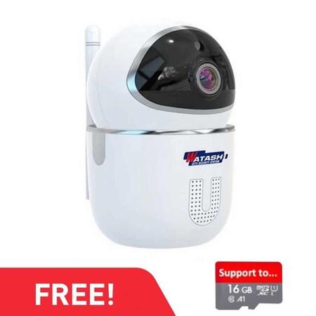 WATASHI CCTV SECURITY กล้องวงจรปิดไร้สาย แถมฟรี SD CARD 16GB