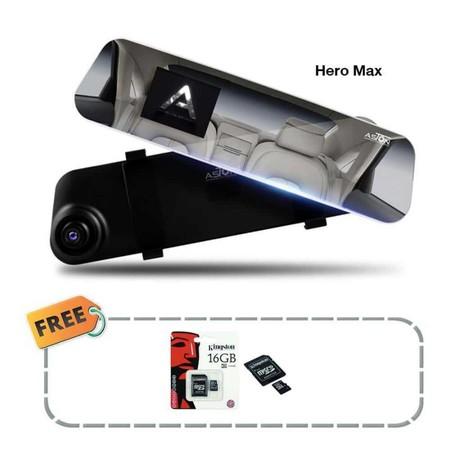 Aston กล้องกระจกติดรถยนต์ รุ่น Hero max ฟรี Micro SD Card