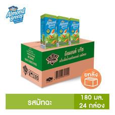 อัลมอนด์ บรีซ เครื่องดื่มน้ำนมอัลมอนด์ รสมัทฉะ (ตราบลูไดมอนด์) 180 มล. 24 กล่อง/ลัง